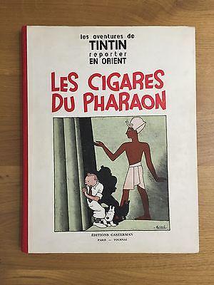 Herge Tintin Les Cigares du Pharaon P6 EO 1934 Casterman ETAT EXCEPTIONNEL RARE.