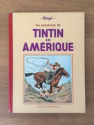 Herge Tintin en Amérique A8 ED 1940 Casterman ETAT EXCEPTIONNEL RARE.