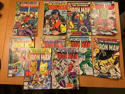 Marvel Iron Man # 127 128 129 131 134 135 136 137 139 140  Lot of 10 1979 - 1980