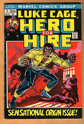 Marvel LUKE CAGE, HERO FOR HIRE No. 1 (1972) Sensational Origin Issue VG+