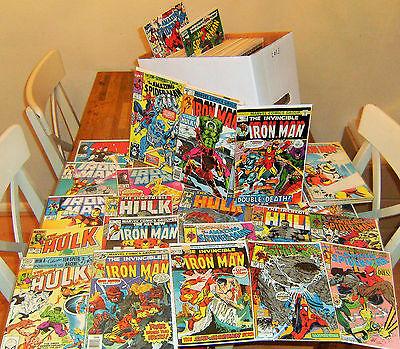 120+ huge IRON MAN + INCREDIBLE HULK + AMAZING SPIDER-MAN lot Marvel Comics