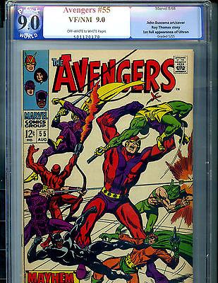 Avengers #55 Vol 1 PGX 9.0 (Like CGC) Unrestored Very High Grade 1st App Ultron