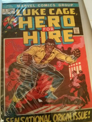 Marvel LUKE CAGE, HERO FOR HIRE No. 1 (1972) Sensational Origin Issue VG+