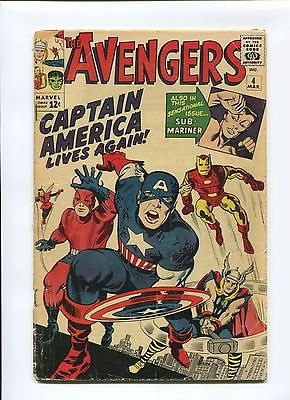 AVENGERS 4 G/VG UNALTERED PRESS FREE FROM ORIGINAL OWNER COLLECTION