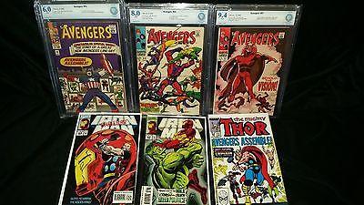 Avengers 57 (CBCS not CGC 9.4), 55 (8.0), 16 (6.0) & Iron Man 304 & 305...