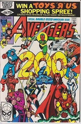 The Avengers 200-300 (1980) Complete Run VG/FN Ultron, Thor, Iron Man Hot Movie