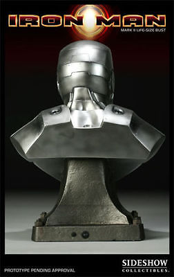 Sideshow Collectibles Exclusive Iron Man Mark II Life-Size Bust 100 made NISB