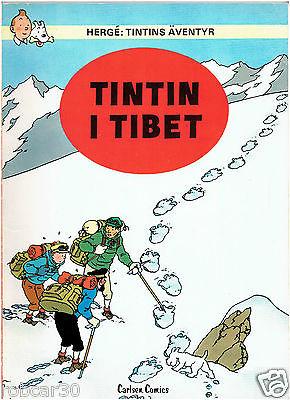 SCHLUMPF PITUFO COMIC ''TINTIN IN TIBET'' in  SWEDISH 3