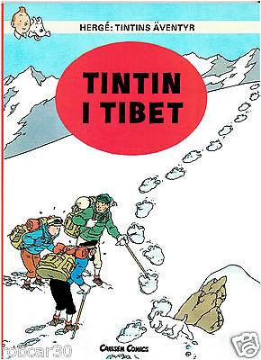 SCHLUMPF PITUFO COMIC ''TINTIN IN TIBET'' in  SWEDISH 1