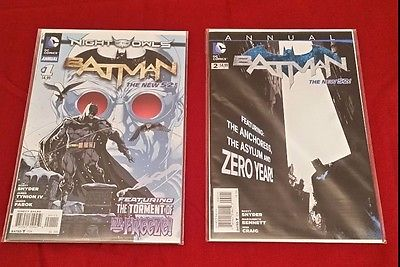 BATMAN ANNUAL 1 2 (New 52 Snyder, Night of the Owls, Mr. Freeze, Zero Year)