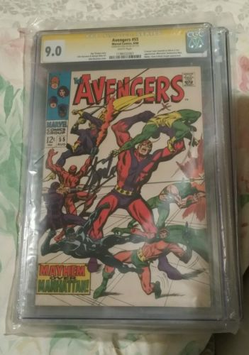 CGC SS 9.0 Avengers # 55 Signed by Stan Lee 1st Appearance of Ultron 1968 Movie