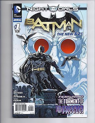 Batman Annual #1 VF+ First New 52 Mr. Freeze Night Of The Owls DC Comics