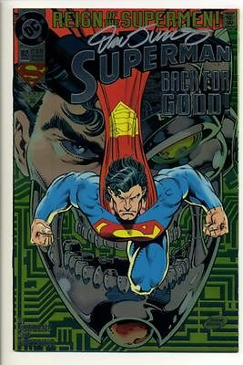 Comicsvalue Com Superman 82 1993 Chromium Cover Signed By Dan Jurgens Superman Back For Good Auction Details