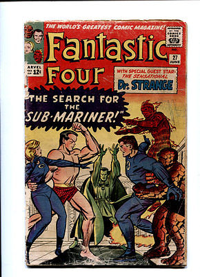 Fantastic Four #27 The First Doctor Strange X-Over Sub-Mariner App. 3.5 VG-