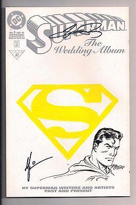 Superman: The Wedding Album #1 Signed by Perez, McLeod Sketch & Thibert 1996 DC