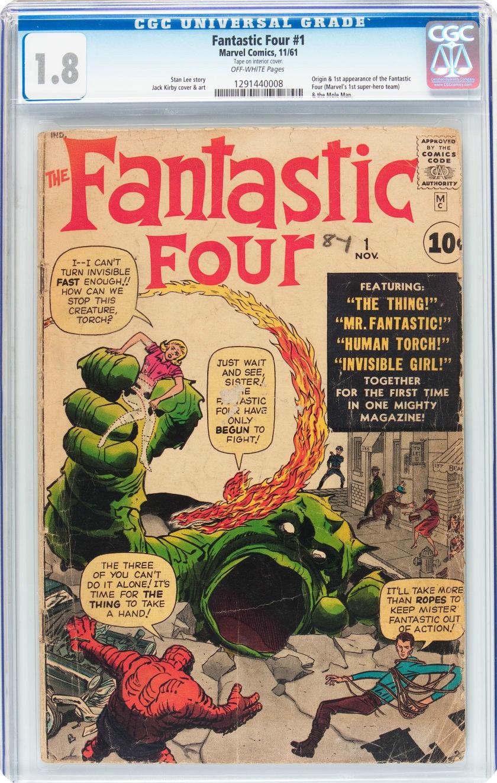 Fantastic Four #1 (Nov 1961, Marvel) Origin & 1st app Fantastic Four & Mole Man