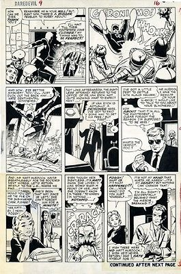 DAREDEVIL 9 P16 BOB POWELL (Penciller)  WALLY WOOD (Inker) ORIGINAL ART