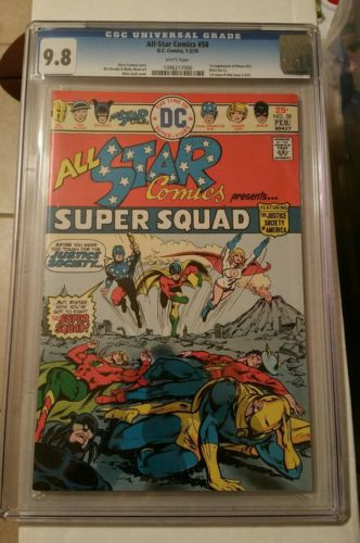 ALL-STAR COMICS #58 CGC 9.8 NM 1ST APP OF POWER GIRL only one on Ebay