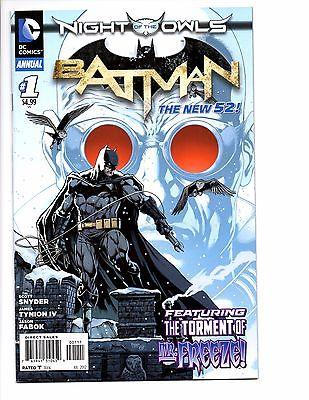 Batman Annual # 1 New 52 Mr. Freeze Origin Night of the owls Story