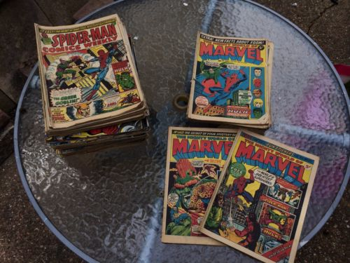 100+ Issues Of MIGHTY WORLD OF MARVEL Inc  #3 And Spiderman Weekly Comics