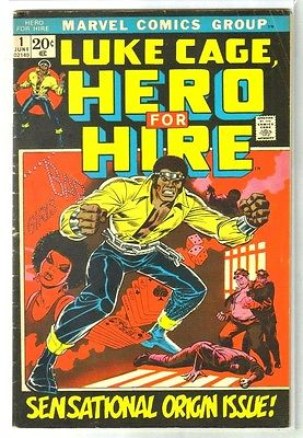Luke Cage HERO FOR HIRE #1 Sensational Origin Issue Marvel Comic Book   VG