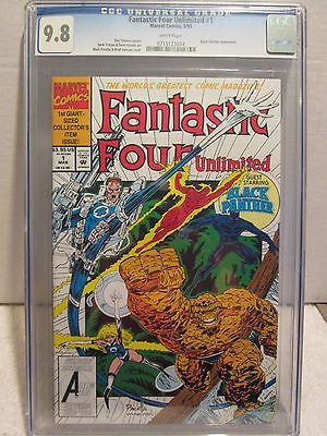 MARVEL FANTASTIC FOUR UNLIMITED #1 CGC 9.8 BLACK PANTHER APPEARANCE