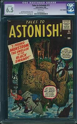 TALES TO ASTONISH 11 CGC 6.5 WHITE PAGES 1 COMIC HULK IRONMAN 39 AVENGERS XMEN