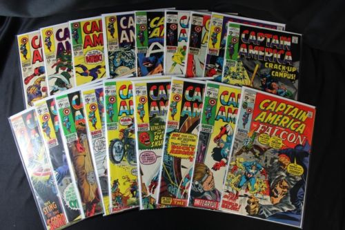 Captain America lot of 18 15¢ Comics Fine/Very Fine 102,104,105,118,120 + More