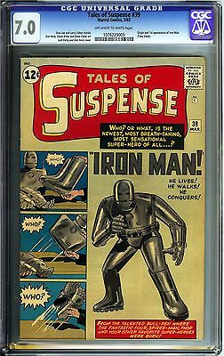 Tales of Suspense #39 CGC 7.0 FN/VF Marvel Comics OW/W Origin 1st app. Iron Man