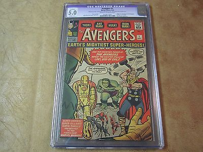 Avengers #1 CGC 5.0 Comic Book 1963  1st App of Avengers  KEY