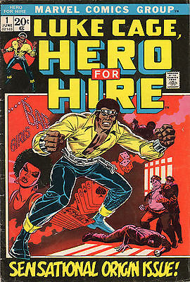 Luke Cage, Hero For Hire #1 (Marvel, Jun. 1972)  FN- New Neflix Series Key Issue
