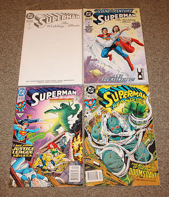 Superman The Wedding Album #1 Special Comic - DC lot of 4 MINT CONDITION Comics
