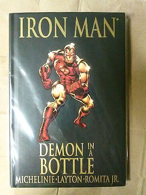 Iron Man Demon In A Bottle 120-128 RARE HC Iron Man's Origin, Avengers Read Desc