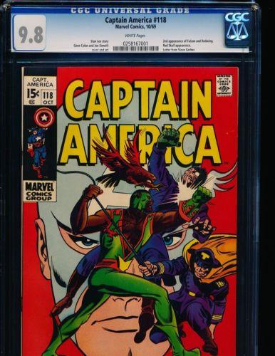Captain America # 118 - 2nd Falcon CGC 9.8 WHITE Pgs.
