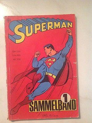 Superman Sammelband Nr.1 mit starken Gebrauchtsspuren