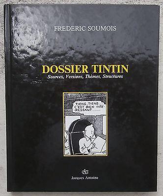 Dossier Tintin Frédéric Soumois 1987 Très rare