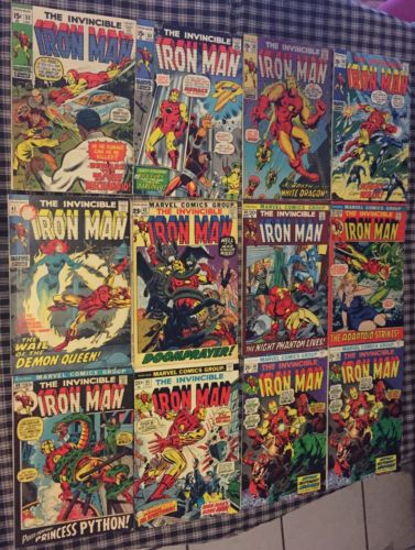INVINCIBLE IRON MAN #31 - #122 (43 Comic Lot) Marvel Early 1970's to 1979 Era