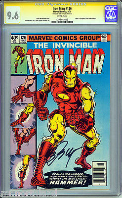 Iron Man #126 CGC 9.6 White Pages Signature Series SS by Bob Layton Cover & Art
