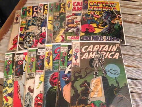 Captain America lot 101 102 103 105 106 107 108 111 113 114 115 116 117 118 +