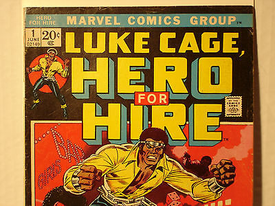 LUKE CAGE, Hero For Hire #1 (MARVEL, June 1972) F+ KEY ISSUE New Neflix Series