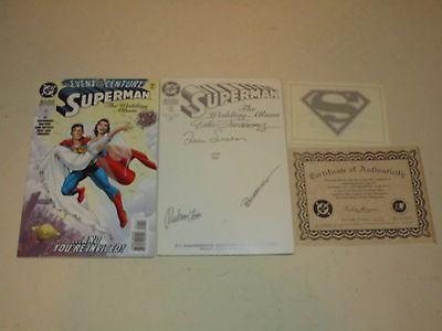 1996 SUPERMAN THE WEDDING ALBUM SIGNED W/ COA + WEDDING ALBUM NO. 1 DEC ISSUE