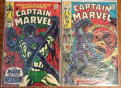Captain Marvel (Marvel,Vol.1) lot incl. #5,16, 40,41,43,44,46-49,51,54,57 & more