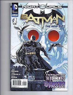 Batman Annual #1 VF- First New 52 Mr. Freeze Night Of The Owls DC Comics