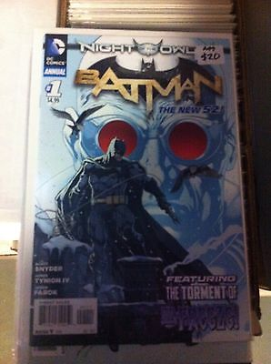 BATMAN ANNUAL #1 Vol 2 NM 1st Print New 52 Snyder Capullo Night of The Owls