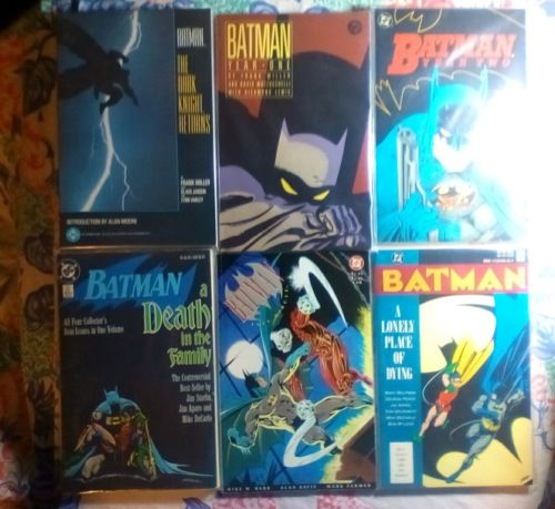 Batman, Lot of 6 TPB, Frank Miller,s The Dark Knight Returns, Year One, and more