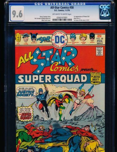 All-Star Comics # 58 - 1st Power Girl CGC 9.6 OW/WHITE Pgs.