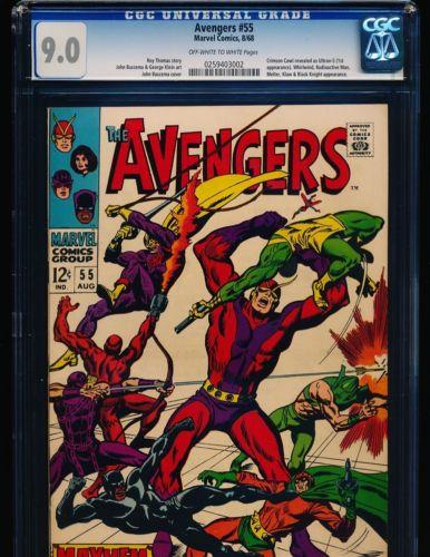 Avengers # 55 - 1st full Ultron CGC 9.0 OW/WHITE Pgs.