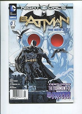 BATMAN ANNUAL #1 - NIGHT OF THE OWLS - TIE-IN - SCOTT SNYDER STORY - DC 52