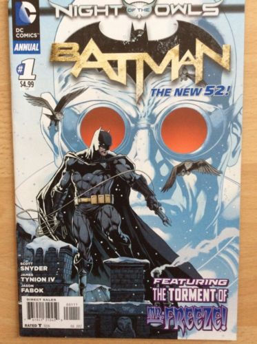 BATMAN ANNUAL #1 - NIGHT OF THE OWLS - NM CONDITION - DC COMICS NEW 52