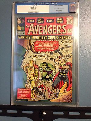 The Avengers #1 (Sep 1963, Marvel) CGC 5.0 1st Avengers Priced to sell
